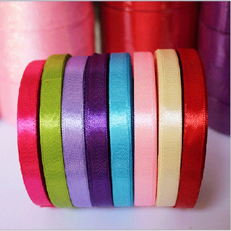 New Elegant Colorful Satin Ribbon Wedding Party Craft Sewing Decorations Hair Accessories Cloth Tape DIY(China (Mainland))