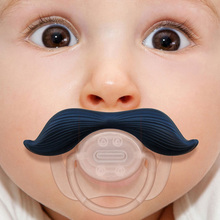 1 PCS Funny Mustache Baby Boy Girl Infant Pacifier Orthodontic Dummy Beard Nipples 3 Colors(China (Mainland))