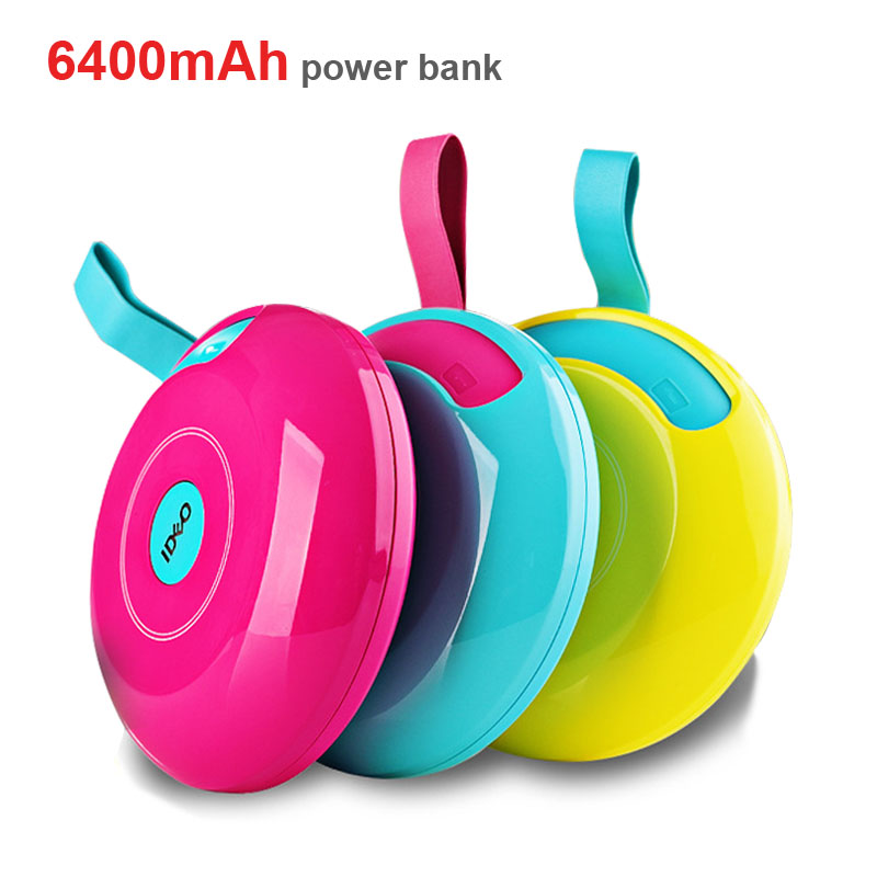 Super Mini Power bank 6400 mAh Cartoon portable mobile power bank slim 18650 5V 1A/2A portable charger laptop power bank(China (Mainland))