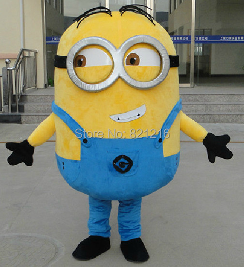 Despicable Me 2 Mascot Costume Despicable me minion Costume mascot fancy Cartoon costume Free ShippingОдежда и ак�е��уары<br><br><br>Aliexpress