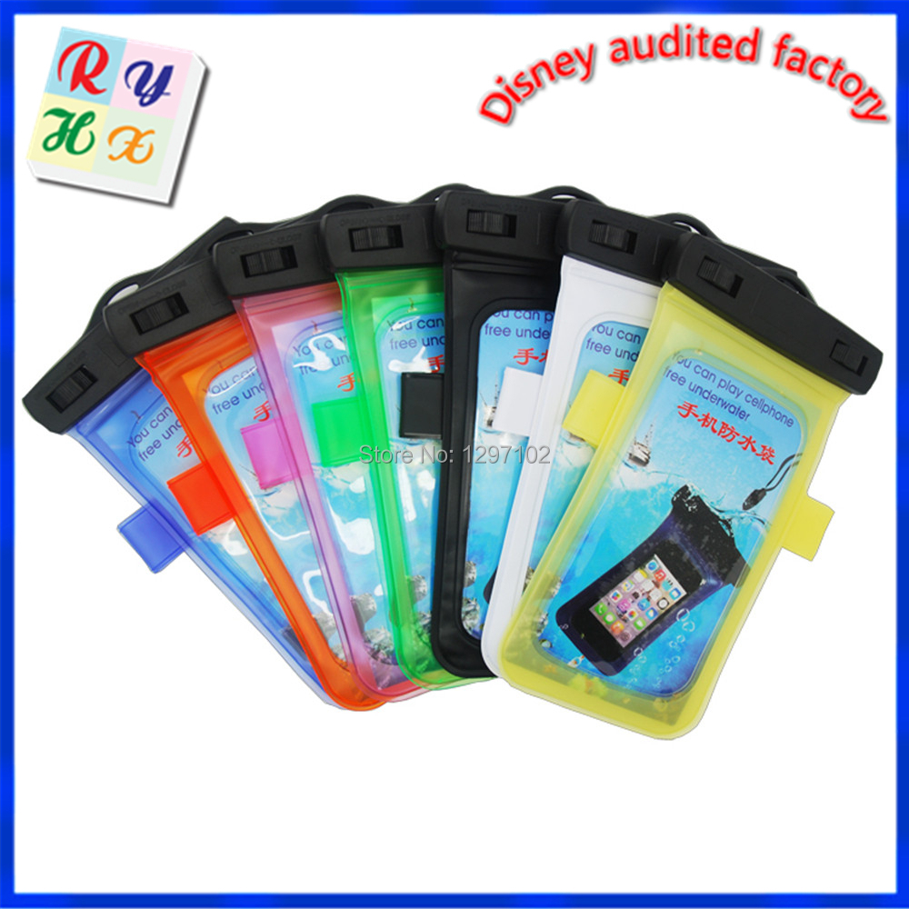 new arrival universal Underwater Pouch Case for mobile phone under 5.8inches PVC Waterproof bag(China (Mainland))
