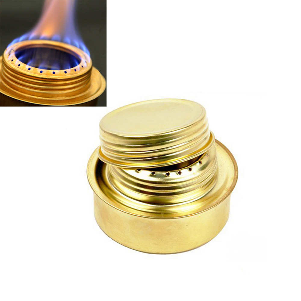 Portable Mini Alcohol Stove Copper Alloy Ultralight Spirit Burner Outdoor Camping Stove Furnace(China (Mainland))