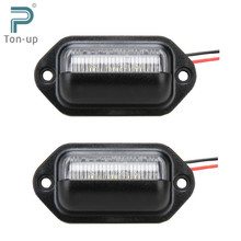 Buy 2x 12V Bright 6LEDs License Plate Light Lamp Bulbs Number Plate Light Motorcycle Boats Aircraft Automotive Trailer RV Truck for $8.99 in AliExpress store