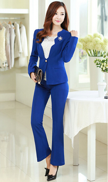 2015 brand formal office uniform designs women pant suits for Office uniform design 2015