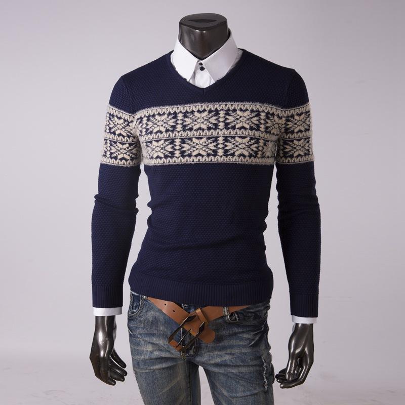 2015 New Autumn and Winter Fashion Brand Men's Sweater Vest ,Men's V-neck slim sweater vest ,long sleeve vest men warm(China (Mainland))