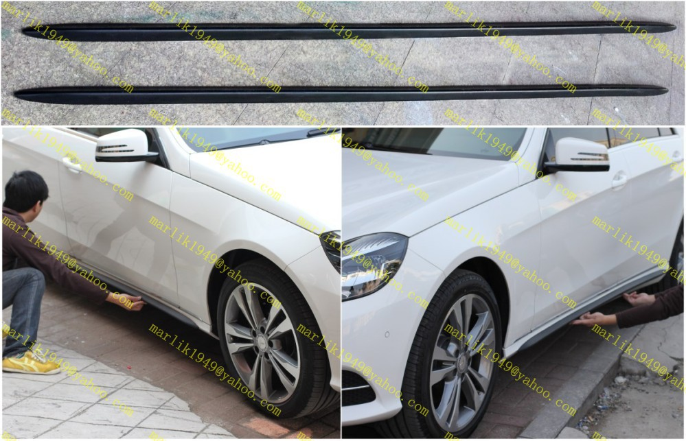 benz w203 w204 w207c207 w208 w209 w211 w212 w216 w218 w221 r171 r172 pu bodykit side skirts moulding trim - Highlight Auto store