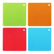 Non-slip Silicone Table Placemat Cup Coaster Heat Resistant Pot Holder Kitchen Accessories(China (Mainland))