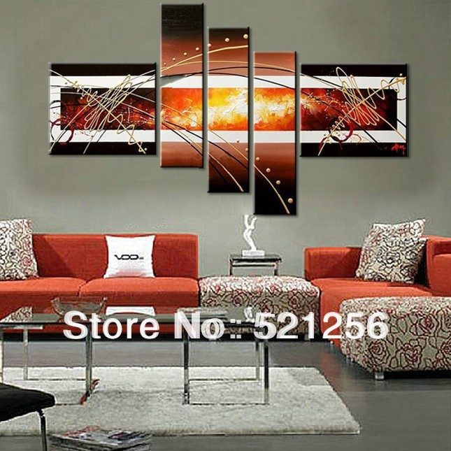 Free shipping handpainted group triptych wall paintings for Modern wall art for sale
