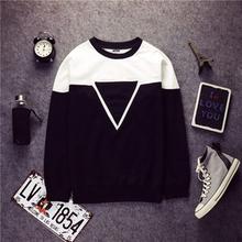 Triangle Creative Crewneck Hoodie Harajuku Streetwear Sweatshirt Skateboard 2015 Hip Hop Hoodies Men Hoody Pullover Sportswear