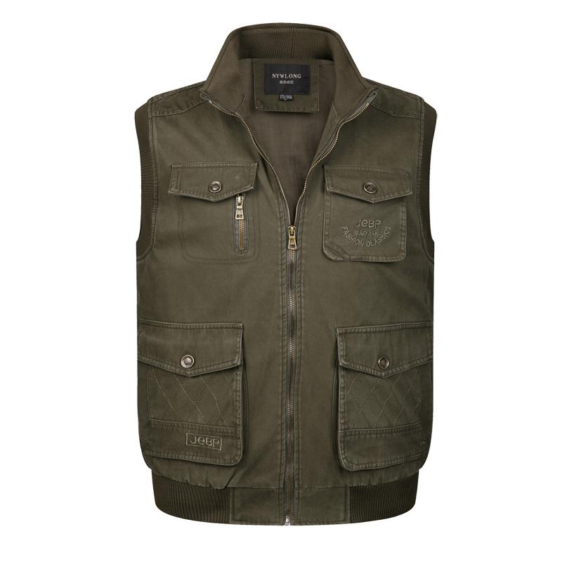 2015 New Winter Multi Pocket Hunting Vest Men Sleeveless Outdoor JacketОдежда и ак�е��уары<br><br><br>Aliexpress