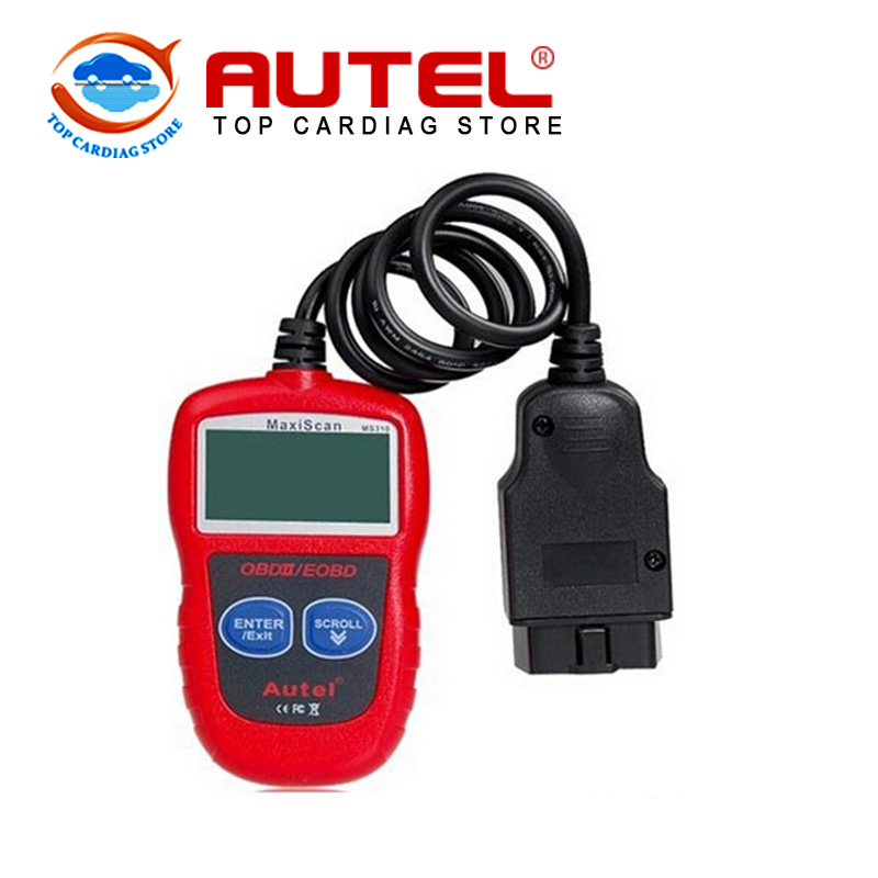 Autel MaxiScan MS310 CAN BUS OBDII Code Reader Scanner MS 310 obd2 obdii Car Scanner Reader Diagnostic Tools Free Shipping(China (Mainland))