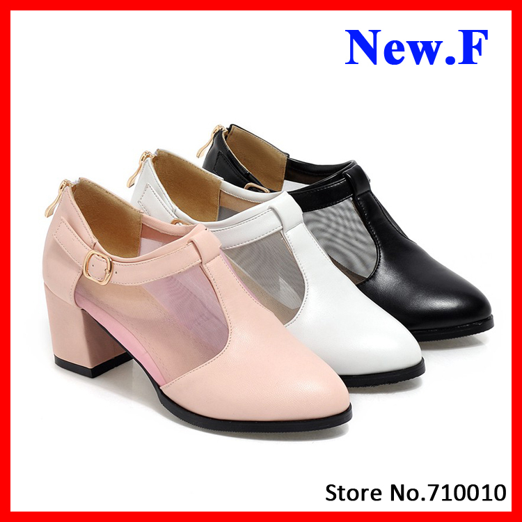 2015 Sexy Shoes Casual PU leather Spring autumn thick heel shoes for women casual date daily shoes size 34-43<br><br>Aliexpress