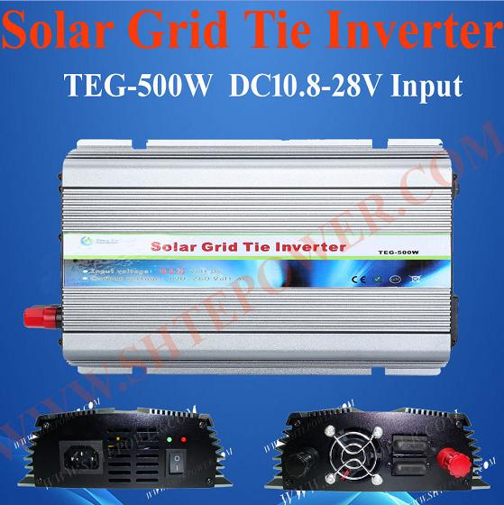 Pure sine wave DC 12V 24V to AC 100V 110V 120V 500W Grid Tie Solar Micro Inverter(China (Mainland))