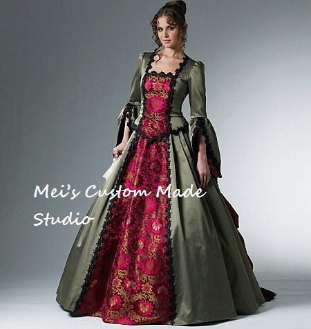 custom made 18th century mccalls western bustle ball gown