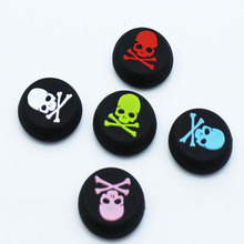 2pieces/Pair Skull Thumb Sticker Grips Cap Gamepad Joystick Cover Case For Sony PlayStation PS3 PS4 Xbox One Xbox 360 Controller