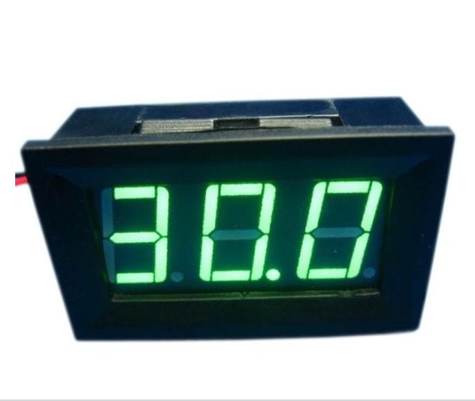Hot DC 0-30V GREEN LED 3-Digital Display Voltage Voltmeter Panel Motorcycle #00005(China (Mainland))