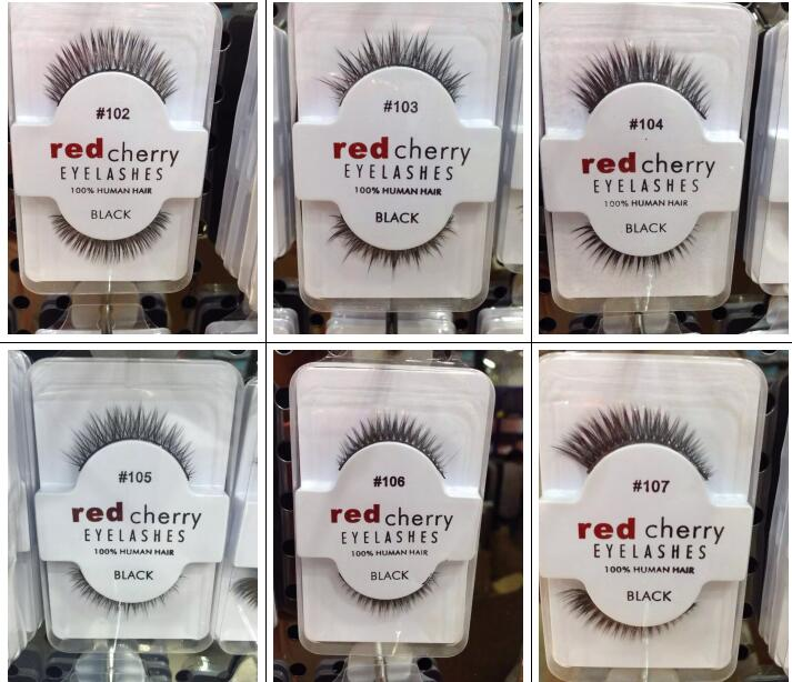 Wholesale cheap red cherry eyelash human hair lashes extension <br><br>Aliexpress