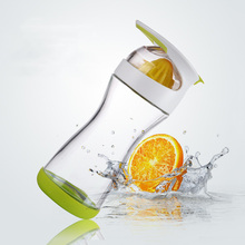 New Arrivals Water Lemon Infuser 17-ounce Glass Water Bottle Home On the Go Water Bottle Raspberry 500ML Fruit Bottle