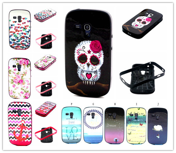 1PCS Beautiful Flower Cartoon TPU+PC Case Cover For Samsung Galaxy S Duos s7562 7560 7562 Galaxy S Duos 2 S7582/Trend Plus S7580(China (Mainland))