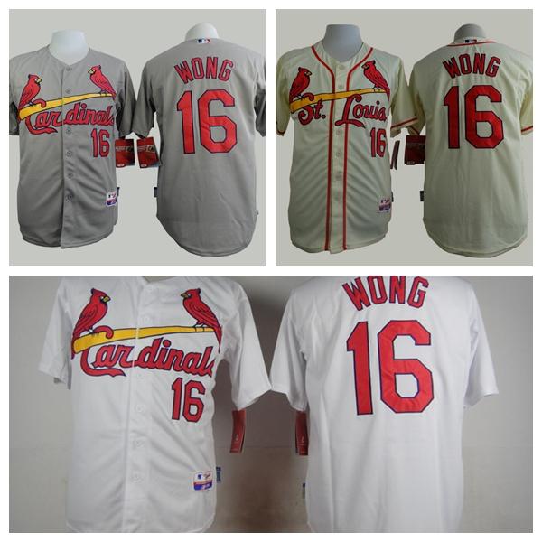 Cheap Mens St. Louis Cardinals Jerseys #16 Kolten Wong Baseball Jersey,100% Embroidery Logos,Accept Mixed Orders,Size M-XXXL