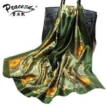 2015 Big Size 90x90cm High Quality Silk Square Scarf Women Fashion Brand Imitated Silk Satin Scarves Shawl Hijab Free Shipping