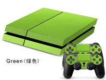 Green Leather Skin PVC Stickers For Sony PS 4 Console & 2 Pads For Playstation 4 Controller Protective Skin(China (Mainland))
