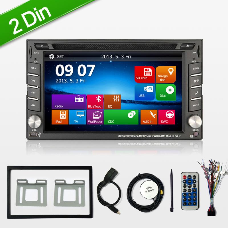 2 double Din Car DVD Player GPS Bluetooth, Radio ,Stereo, Audio ,Media, FM,USB SD,rear camera,DVR car parking for kia/hyundai(China (Mainland))