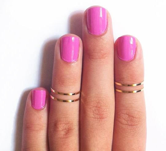 1pcs rings for women slim Joint Gold Silver Finger Rings Cheap fashion jewelry Nice Gift for Girl Women Ring(China (Mainland))
