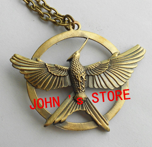 Freeshipping The Hunger Games Antique Pendant Inspired brooch necklace Pendant New style high qaulity Hunger Games pin AHU02<br><br>Aliexpress