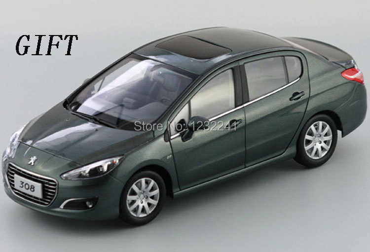 Gray Color Details 1:18 Scale High quality Peugeot 308 Die Cast Alloy Car Model(Gray)+ SMALL GIFT(China (Mainland))