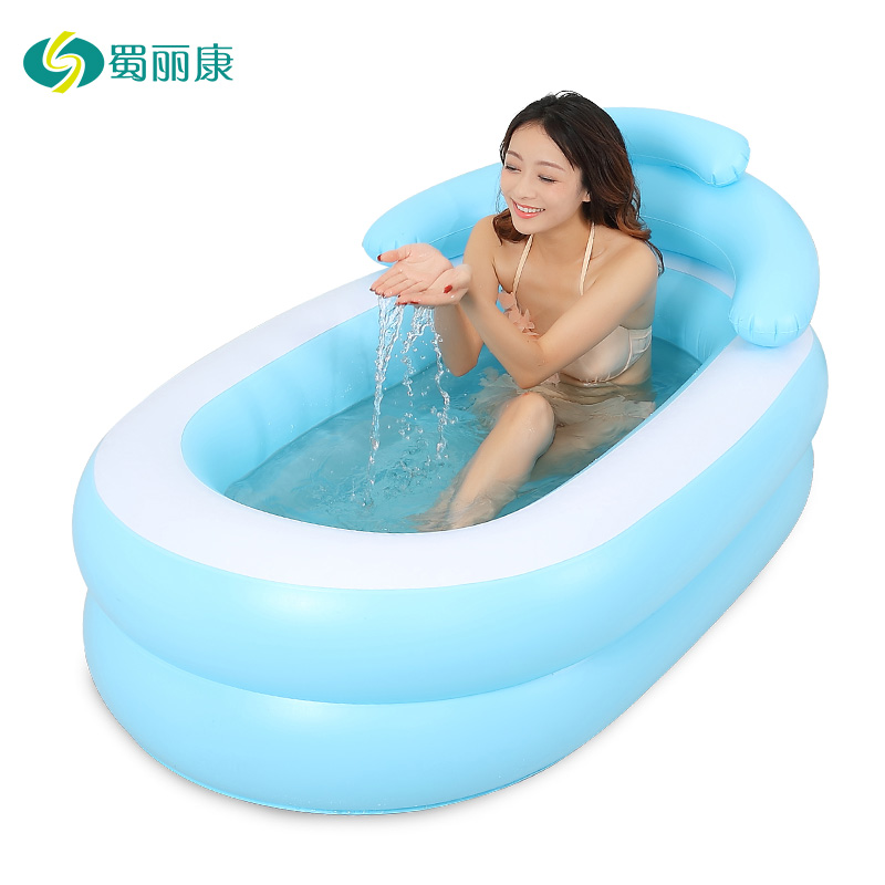 Travel Pump Bottle Perfume Parent-child Inflatable Bathtub Bath Barrel Thickened Fold Adult Children Take A Shower Tub Barrels(China (Mainland))