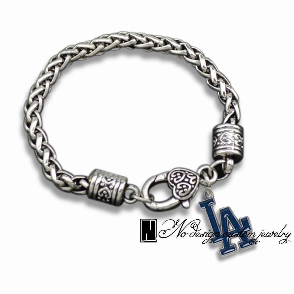 men sport fan enamel los angeles bracelet gift sports charms in charm bracelets from jewelry. Black Bedroom Furniture Sets. Home Design Ideas