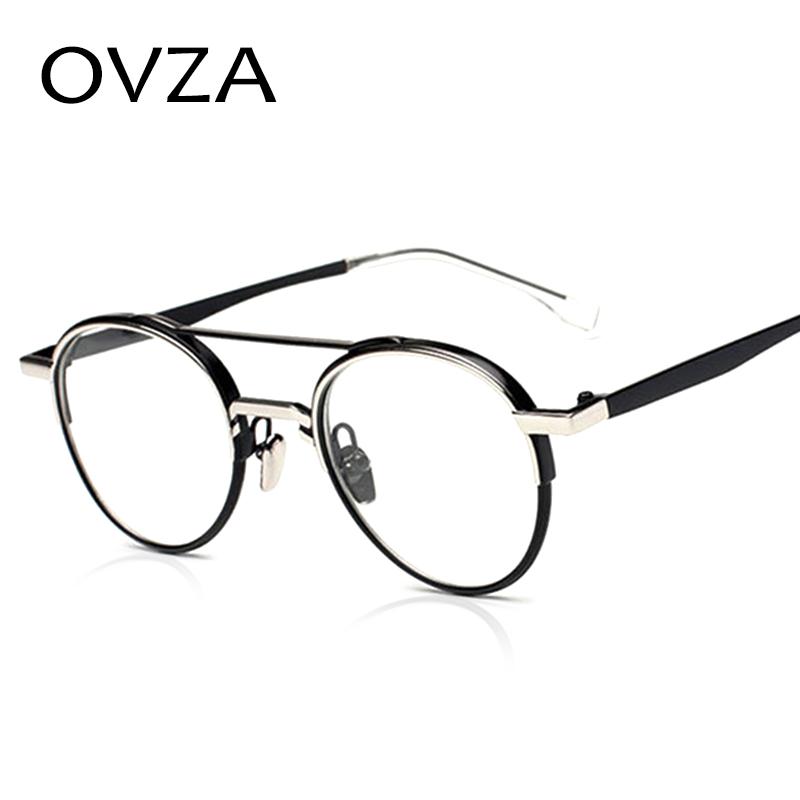 stylish glasses frames 996w  Ovza Punk Style Glasses frames Women Fashion Oval Eye Glasses Frames Men  High-end Optical