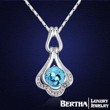 Aliexpress Hot Sale Brand Design Choker Necklace Women Gift With Swarovski Elements Austrian Crystal Chain Necklace Jewelery(China (Mainland))