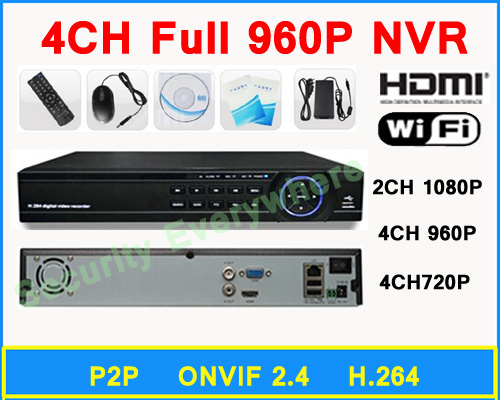 Security System Onvif 4CH 960P 720P P2P NVR Network Video Recorder Free Shipping<br><br>Aliexpress