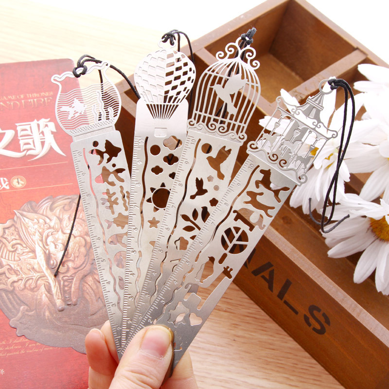 Delicate cutout book mark ultra-thin metal bookmark tape ruler brief book marker fashion bookmarks for Books Stationery Glifts(China (Mainland))