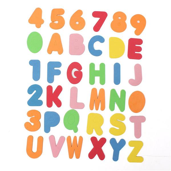 36 Pieces Alphanumeric Letter Bath Puzzle EVA Kids Baby Toys New Early Education(China (Mainland))