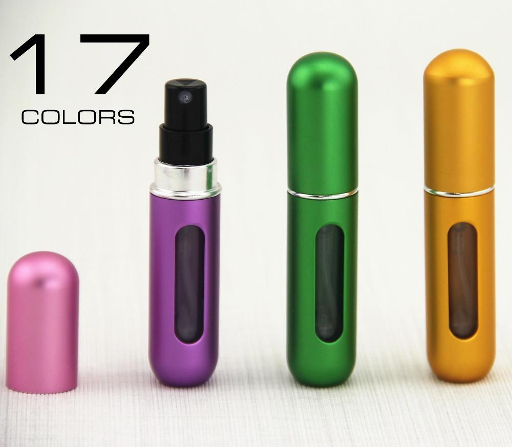5pcs Mini Portable Travel Refillable Perfume Atomizer Bottle For Spray Scent Pump Case 5ML Empty(China (Mainland))