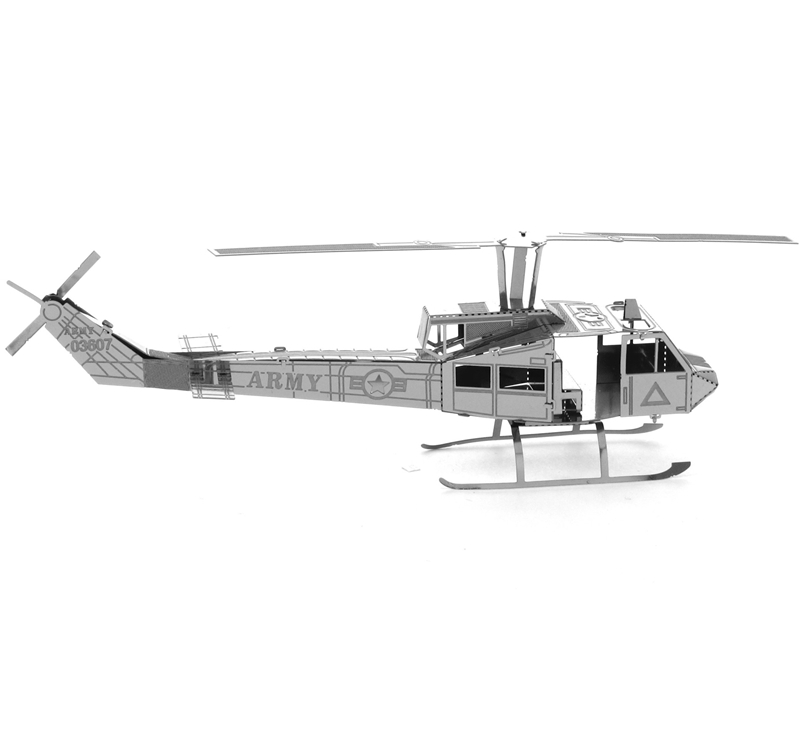 2015 New Arrival Bell Uh-1 Huey Helicopter Fun 3d Metal Diy Steel Scale Miniature Model Kids Puzzle Toys Jigsaw Adults Hobby Kit(China (Mainland))