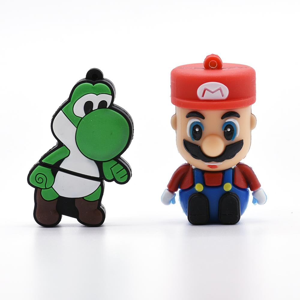 Mario cartoon USB Flash Drive pen drive 8GB Mario Dinosaur shaped 64GB memory stick u disk 4GB 16GB 32GB pendrive cool BOY Gift(China (Mainland))