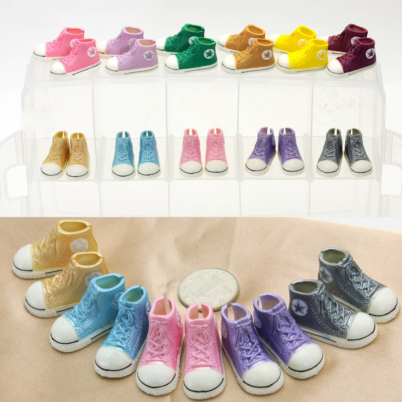 free shipping Mixed color Fashion 12 inches 3.5cm Doll Shoes For 1/6 Scale Tangkou Dolls BJD Doll Accessories(China (Mainland))