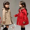 Baby girls autumn coat for girls 2 12 year 2016 children fall new girls cardigan long