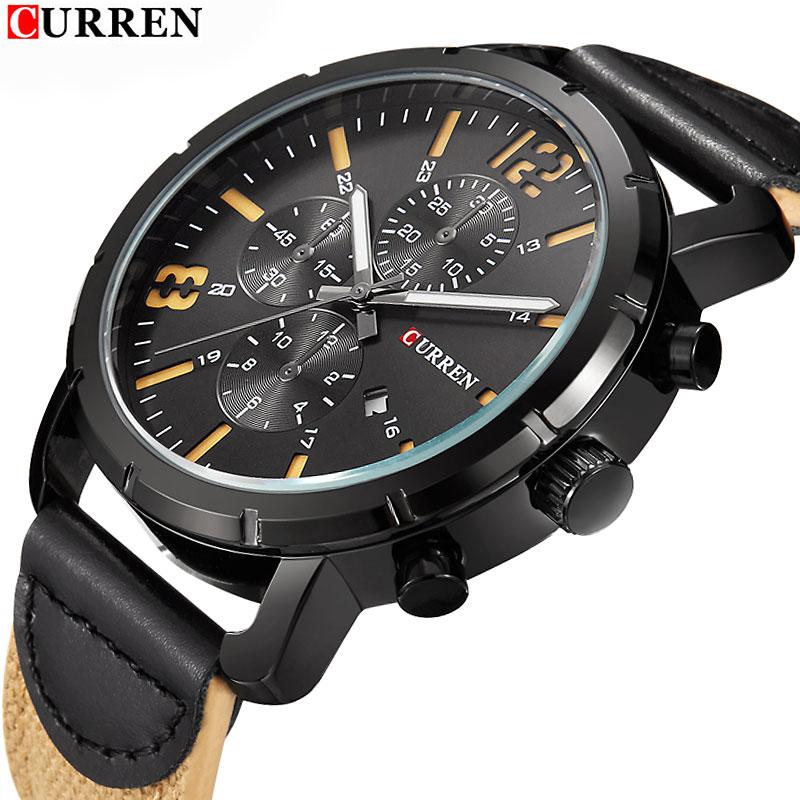 Relogio Masculino CURREN Fashion Men Sport Watch Mens Watches Top Brand Luxury Male Analog Waterproof Military Quartz WristWatch(China (Mainland))