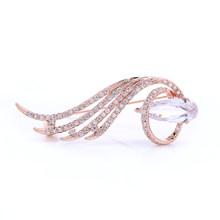 Merek top kualitas rose gold pins bros untuk pernikahan karangan bunga Bros untuk wanita mewah rose gold plating fashion jewelry(China)