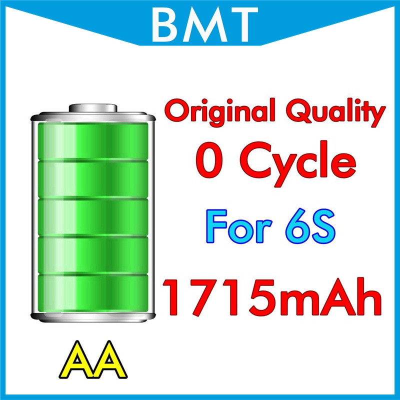 10pcs/lot Original Quality 1715mAh 3.82V Battery for iPhone 6S 4.7″ replacement repair parts Genuine 0 zero cycle BMTI6S0BTAA