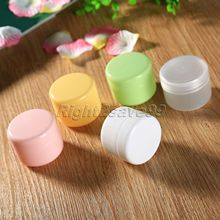 5Pcs/Lot 50ml 50g Colorful Face Cream Jars Pot Travel Plastic Empty Cosmetic Containers 50ml Cosmetic Sample Containers(China (Mainland))