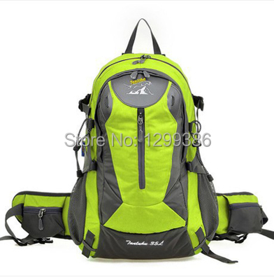 Free shipping Outdoor mountaineering bag backpack 35l waterproof hiking sports travel ride(China (Mainland))