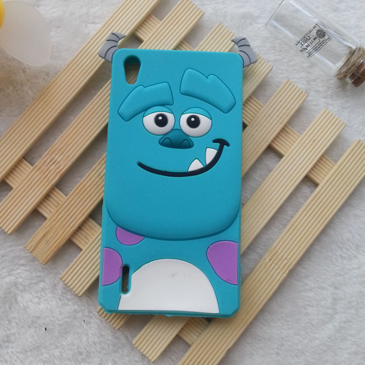 1PCS Huawei P7 Case 3D Cartoon Animals Monsters Sulley Soft Silicone Case Cover For Huawei Ascend P7 Silicon Cell phone cases(China (Mainland))