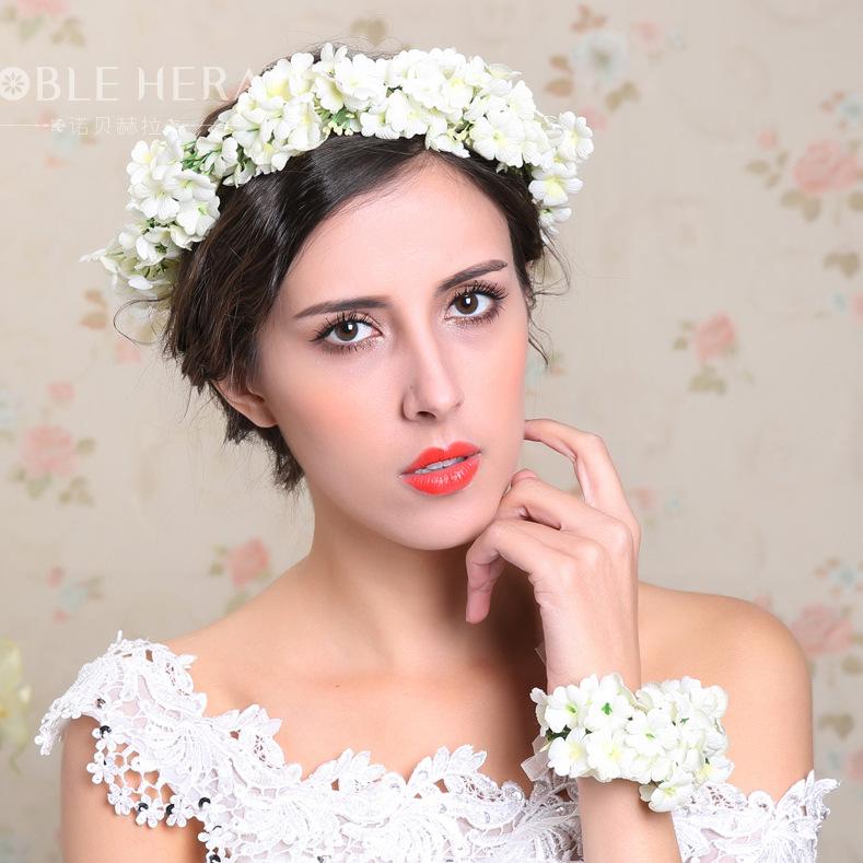 Wedding Flower Crown Suppliers : Aliexpress buy new pcs set women wedding flower