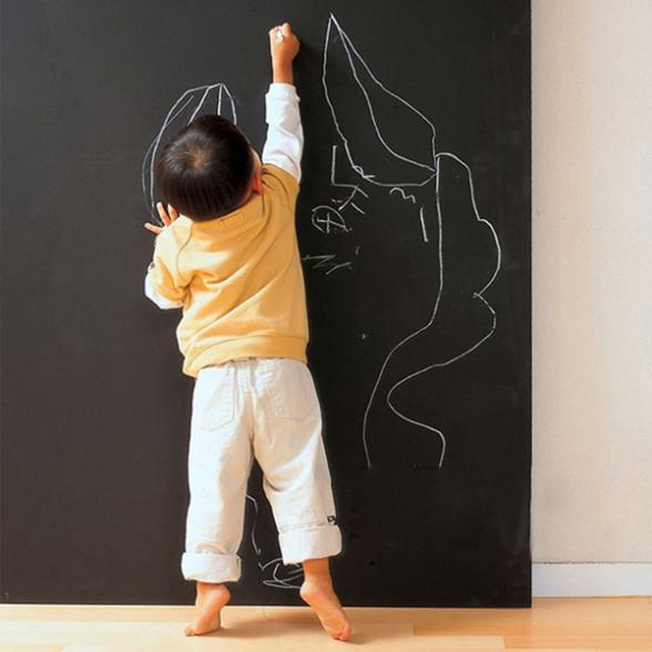 2015 hot Vinyl Chalkboard Wall Stickers Removable Blackboard Decals Great Gift For Kids 45cmx200cm(China (Mainland))